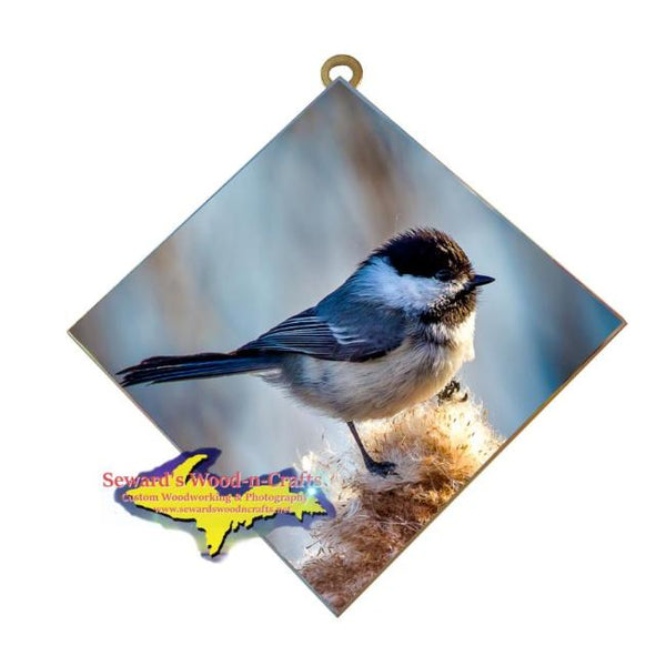 Wildlife Photography Chickadee Michigan Made Hanging Art Tile