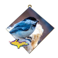 Wildlife Photography Chickadee Hanging Art Tile Made In Michigan Gifts