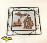 Wall Art that can take the heat, Trivets for the home or cabin wood stove
