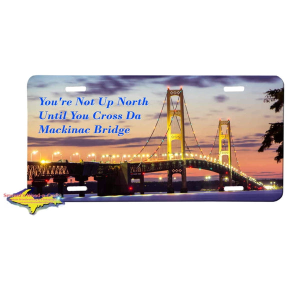 "Michigan License Plates ""Michigan is where my heart is"" Mackinac Bridge License Plate"