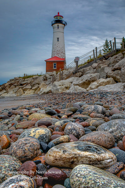 Michigan Photography Lighthouse Crisp Point Lake Superior Rocks