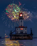 Fireworks at Detour Lighthouse Detour/Drummond Island Michigan