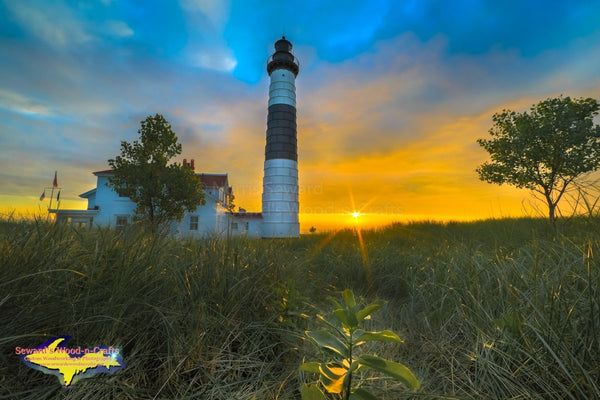 Sunset At Big Sable Lighthouse Ludington State Park Michigan Photos For Sale