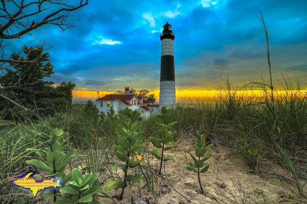 Michigan Landscape Photography Sunset On Big Sable Lighthouse Ludington State Park Michigan Photos For Sale