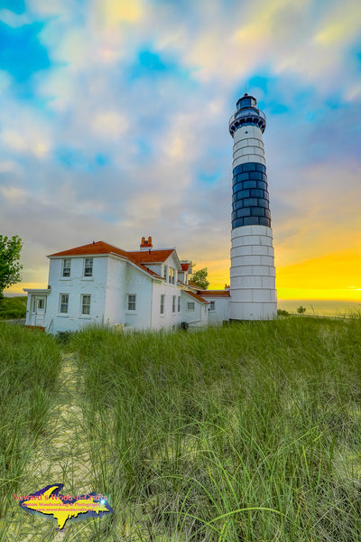 Michigan Landscape Photography Sunset At Big Sable Lighthouse