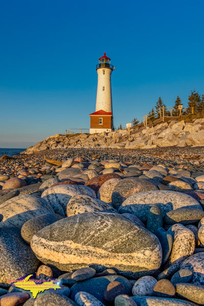 Michigan Landscape Photography Crisp Point Lighthouse & Lake Superior Rocks Photo