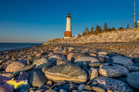 Michigan Landscape Photography Crisp Point Lighthouse Along A Rocky Superior Shoreline