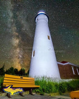 Michigan Photography Crisp Point Lighthouse Milky Way Photo Upper Peninsula Images