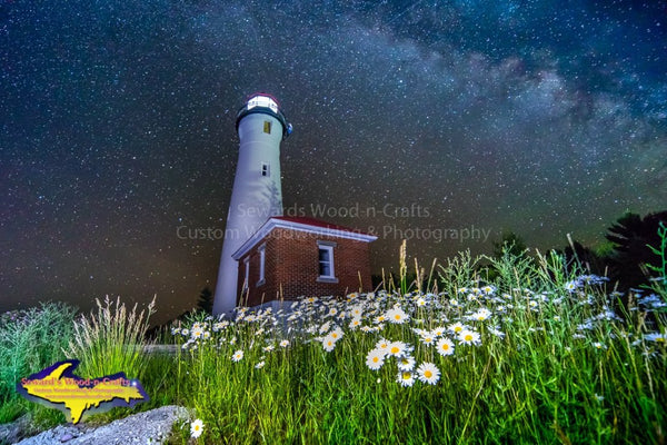 Michigan Photography Crisp Point Lighthouse Under The Milky Way Photo Art Work For Sale