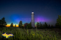 Lighthouse Crisp Point Northern Lights -0384 Michigan Photography