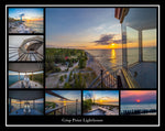 Poster Collage of Crisp Point Lighthouse Michigan's Upper Peninsula photography, canvas, metal, & photo gifts