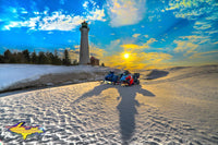 Michigan Photography Crisp Point Lighthouse Winter Sunset Photo