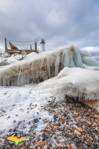 Michigan Landscape Photography Crisp Point Lighthouse Winter Ice
