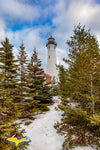 Michigan Landscape Photography Crisp Point Lighthouse Winter Pines
