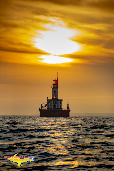 Detour Lighthouse Sunset Michigan Photography -5853