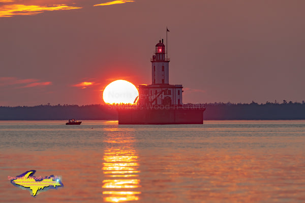 Michigan Landscape Photography Detour Reef Lighthouse Sunset Detour Michigan