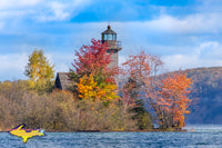 Michigan Landscape Photography Grand Island Lighthouse Fall Colors Munising Michigan Pictured Rocks Photos