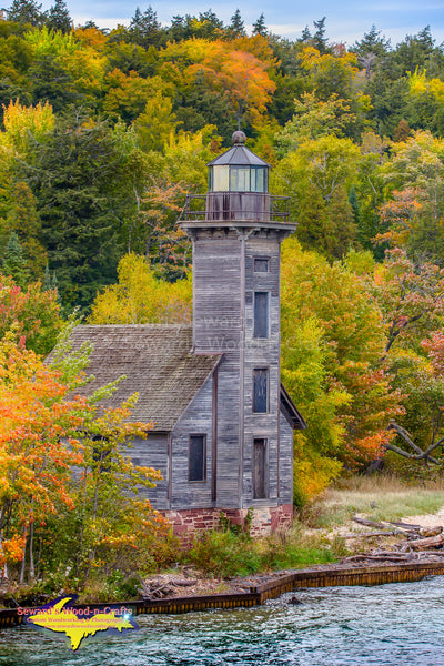 Michigan Ligthouses Grand Island Lighthouse Fall Colors Munising Michigan Pictured Rocks Photos