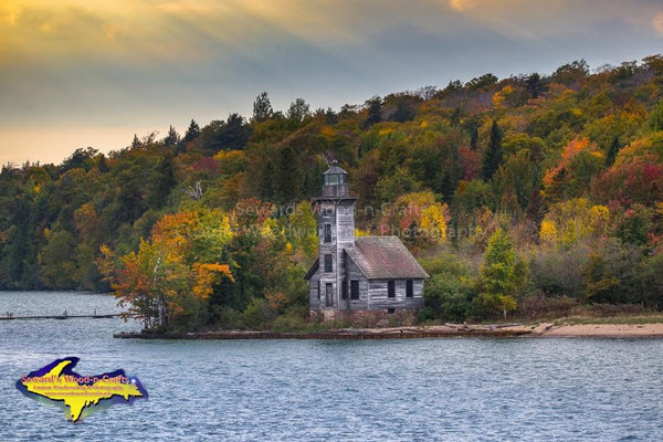 Pictured Rocks Photos Grand Island Lighthouse Image For Sale Great Prices