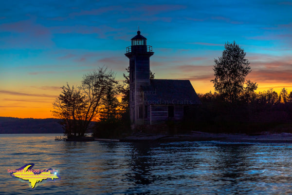 Michigan Lighthouses East Grand Island Sunset -6245