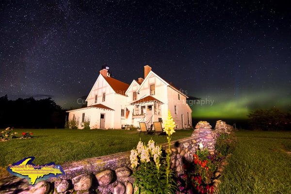 Lighthouse Iroquois Point Northern Lights Photo Michigan Upper Peninsula Images