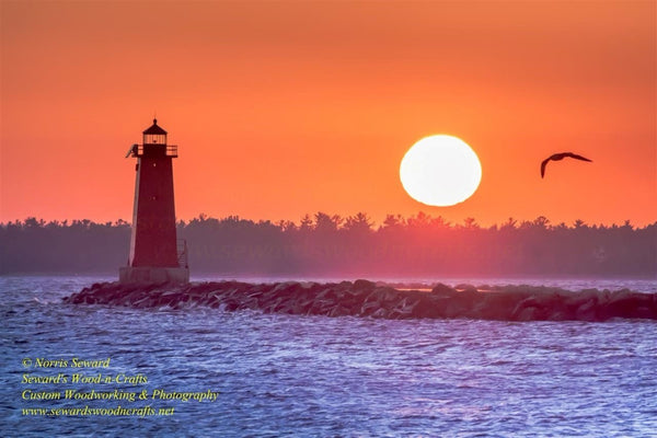 Michigan Landscape Photography Manistique Lighthouse Sunset Pure Michigan