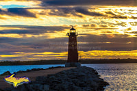 Michigan Landscape Photography Manistique East Breakwater Lighthouse Sunset Best Upper Peninsula Photos