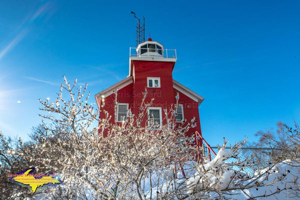 Michigan Landscape Photography Marquette Lighthouse Winter Photo