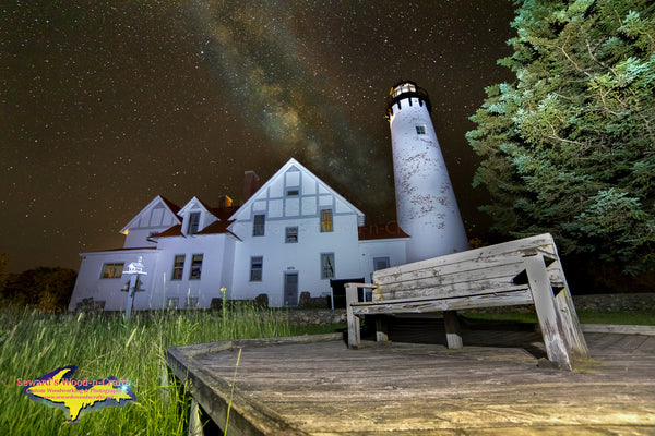 Michigan Photography  Milky Way Over Point Iroquois Lighthouse Brimley, Michigan Photos