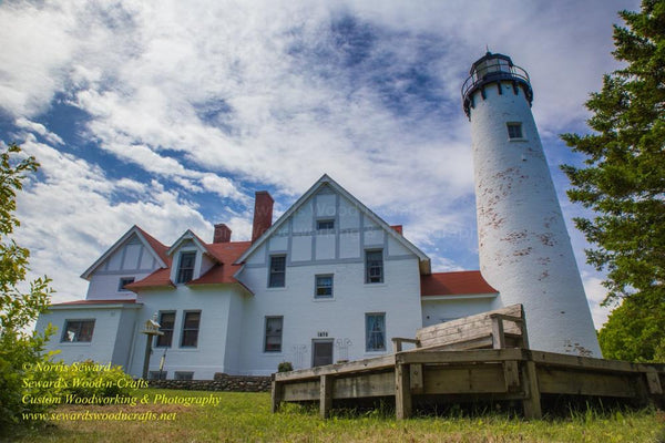 Lighthouse Point Iroquois Photo Michigan Upper Peninsula Images