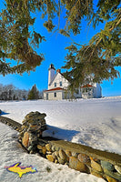 Michigan Photography Point Iroquois Winter Lighthouse Brimley, Michigan