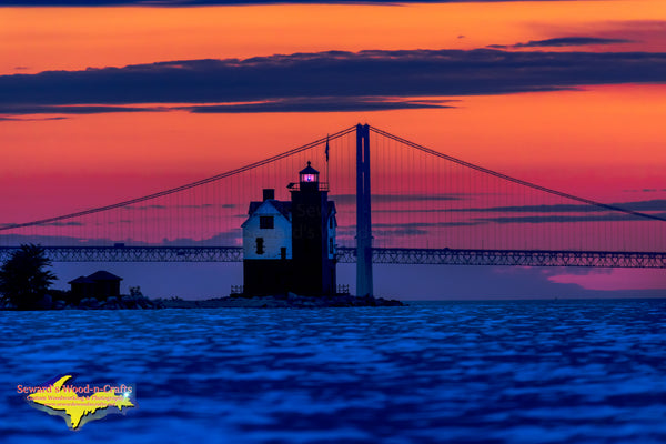 Michigan Landscape Photography Round Island Lighthouse Sunset