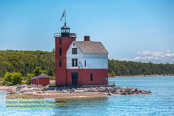 Round Island Lighthouse in the Straits of Mackinac Photos