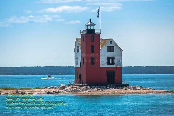 Round Island Lighthouse in the Straits of Mackinac
