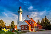 Michigan Landscape Photography Point Seul Choix Lighthouse Photo Image Upper Peninsula