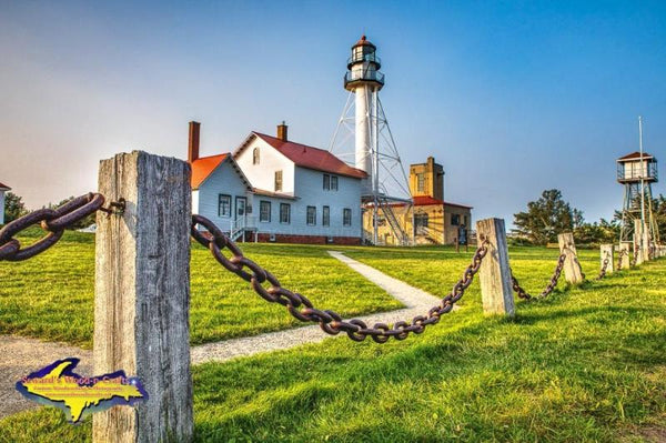 Michigan Photography Whitefish Point Lighthouse Photo Image in Upper Peninsula