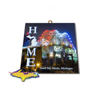 Sault Michigan International Bridge Photo Tile Great Gifts At Great Prices
