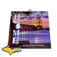 Mackinaw Bridge -8710 Beautiful Wall Art Signs Michigan Made Products
