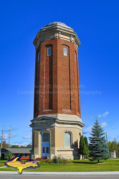 Michigan Photography Manistique Historical Water Tower Best landscape Photos