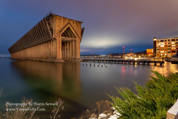 Michigan's Upper Peninsula Photography    A beautiful evening at Marquette Lower Harbor Ore Dock in the Upper Peninsula of Michigan