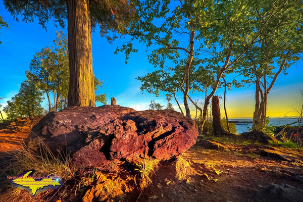 Michigan Landscape Photography Beautiful Black Rocks Of Presque Isle Park Marquette, Michigan
