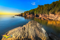 Beautiful Sunrise Black Rocks Of Presque Isle Park Marquette, Michigan