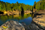 Michigan Landscape Photography Beautiful Sunrise Black Rocks Of Presque Isle Park Marquette, Michigan