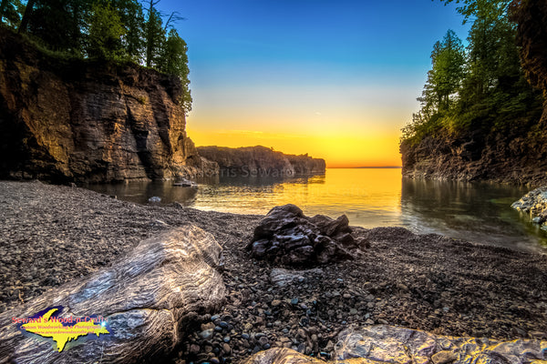 Michigan Landscape Photography Sunset Black Rocks Presque Isle Park Marquette Photos For Sale