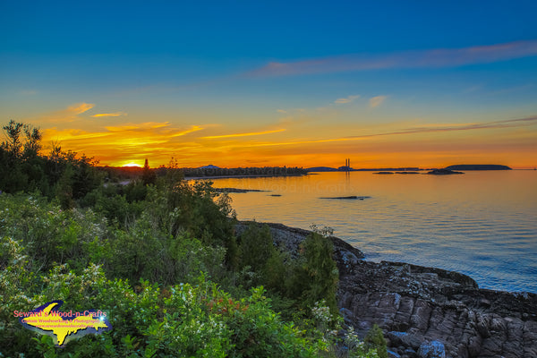 Michigan Landscape Photography A Beautiful Sunset over Marquette, Michigan