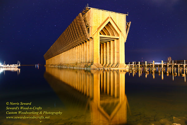 Michigan Landscape Photography A Beautiful Nightscape of Marquette Lower Harbor Ore Dock