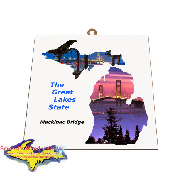 Great Lake State Mackinac Bridge -0024  Michigan Wall Art & Gifts