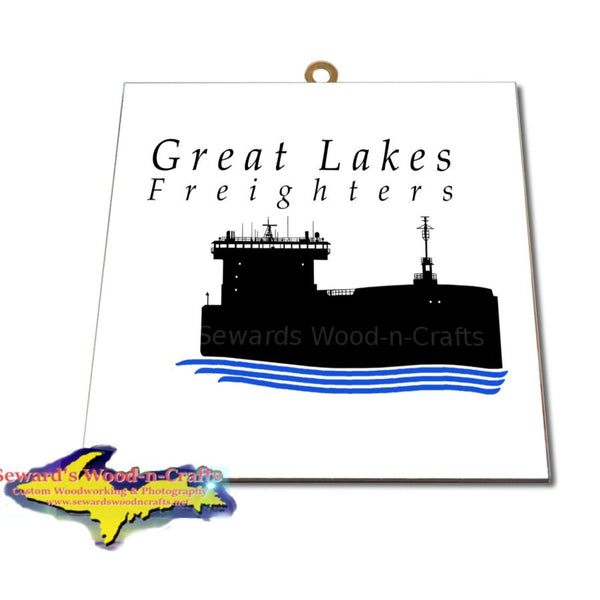 Great Lakes Freighters Hanging Art Photo Tiles, Prints, Gifts & Collectibles. Great Gifts for all Boat fans