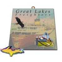 Great Lakes Freighters Hanging Art Edmund Fitzgerald Photo Tiles, Prints, Gifts & Collectibles