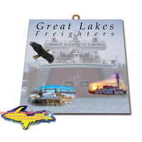 Great Lakes Freighters Hanging Art Edwin H Gott Photo Tiles, Prints, Gifts & Collectibles